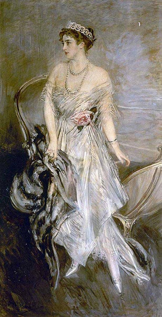 Mrs Leeds later Princess Anastasia of Greece   Giovanni Boldini   oil painting