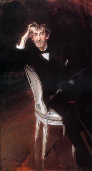 Portrait of James Abbott McNeil Whistler | Giovanni Boldini | oil painting