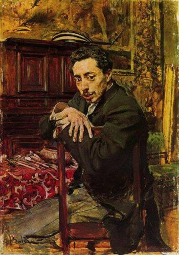 Portrait of the Painter Joaquin Araujo Ruano | Giovanni Boldini | oil painting