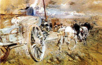 The dump at the door of Asier   Giovanni Boldini   oil painting