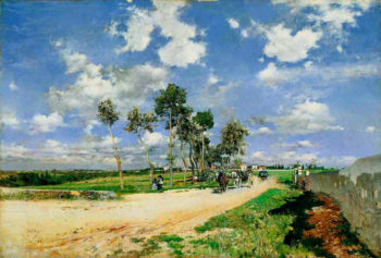 The Great Road in the Villas Combes   Giovanni Boldini   oil painting