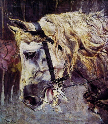 The Head of a Horse   Giovanni Boldini   oil painting