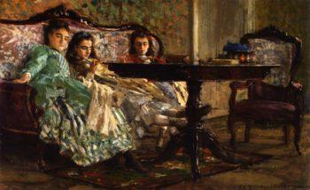 The Lascaraky Sisters   Giovanni Boldini   oil painting