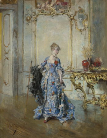 The Last Look in the Mirror   Giovanni Boldini   oil painting