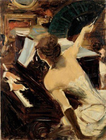 The Mondona Singer   Giovanni Boldini   oil painting