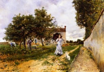 The Morning Stroll   Giovanni Boldini   oil painting