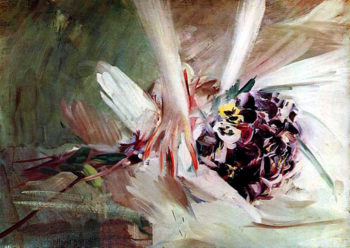 The Pansies   Giovanni Boldini   oil painting