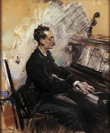 The Pianist A Rey Colaco   Giovanni Boldini   oil painting