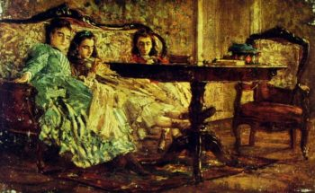The Sisters Laskaraki   Giovanni Boldini   oil painting