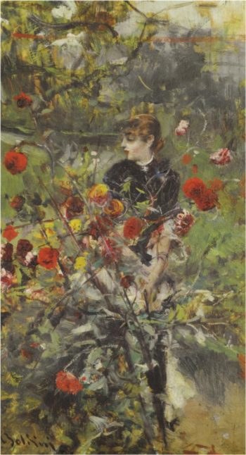 The Summer Roses   Giovanni Boldini   oil painting