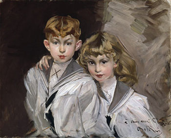 The two children | Giovanni Boldini | oil painting