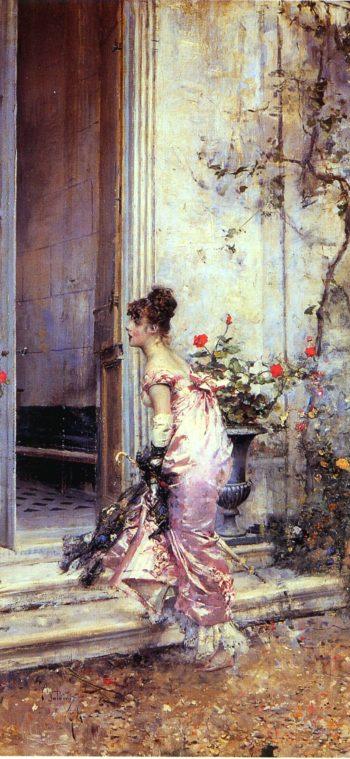 The Visit | Giovanni Boldini | oil painting