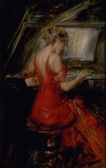 The Woman in Red | Giovanni Boldini | oil painting