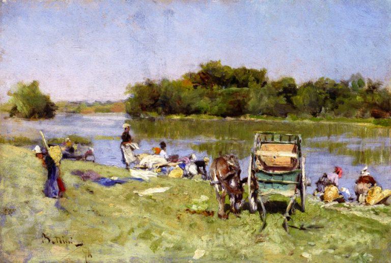 Washerwomen   Giovanni Boldini   oil painting