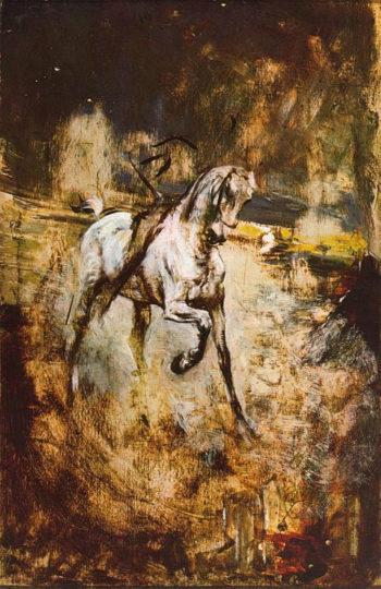 White Horse | Giovanni Boldini | oil painting
