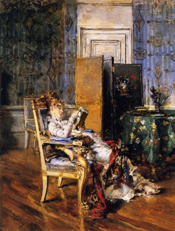 Woman Reading   Giovanni Boldini   oil painting