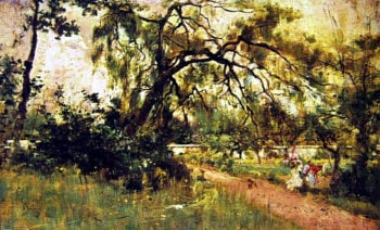 Women's Figures in the Park   Giovanni Boldini   oil painting