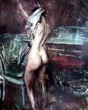 Young Dark Lady   Giovanni Boldini   oil painting