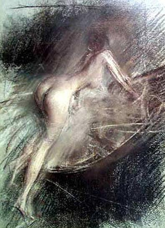 Young Lady Entering Bath   Giovanni Boldini   oil painting