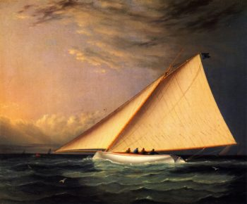 A Racing Yacht on the Great South Bay | James E Buttersworth | oil painting