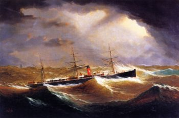 British Steamer Galia | James E Buttersworth | oil painting