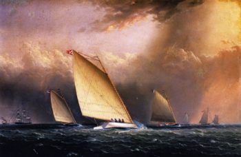 Catboats Racing | James E Buttersworth | oil painting