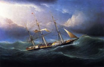 Clipper in a Gale | James E Buttersworth | oil painting