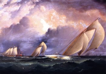 Madcap in a New York Yacht Club Race | James E Buttersworth | oil painting