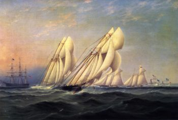 New York Yacht Club Race | James E Buttersworth | oil painting