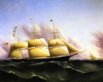 Ship Dreadnought | James E Buttersworth | oil painting