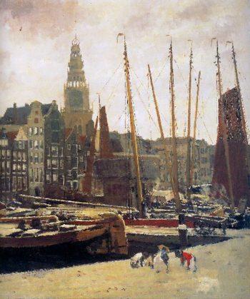 Damrak Amsterdam | George Heidrik Breitner | oil painting