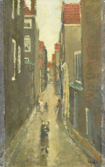 Neighborhood in the Jordaan Amsterdam | George Heidrik Breitner | oil painting
