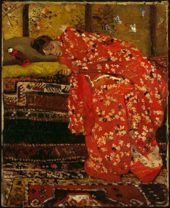 Girl in Red Kimono | George Heidrik Breitner | oil painting