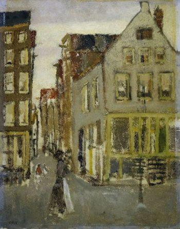 The Lauriergracht at the Tweede Laurierdwarsstraat | George Heidrik Breitner | oil painting
