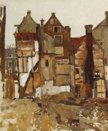 Demolition in the Oudezijds Achterburgwal | George Heidrik Breitner | oil painting