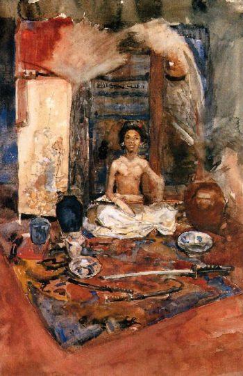 Indian prince | George Heidrik Breitner | oil painting
