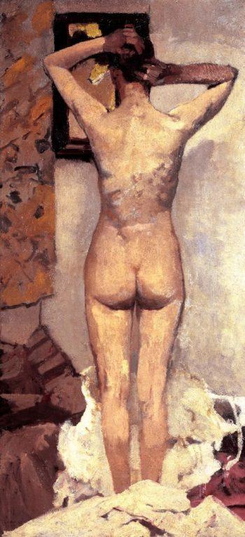 Standing nude | George Heidrik Breitner | oil painting