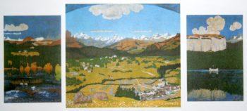 Flimser Panorama | Giovanni Giacometti | oil painting