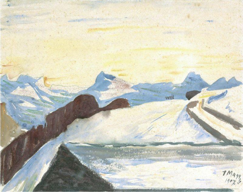 Il Roven   Giovanni Giacometti   oil painting