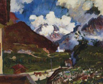 Maloja mit Monte Forno und Cima de Rosso | Giovanni Giacometti | oil painting