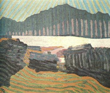 View of Capolago | Giovanni Giacometti | oil painting
