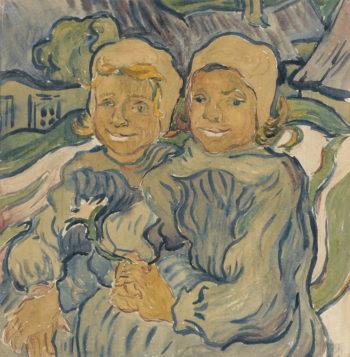 Les deux enfants | Giovanni Giacometti | oil painting