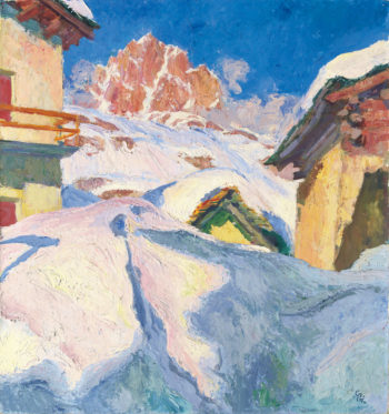 Capolago in Winter | Giovanni Giacometti | oil painting