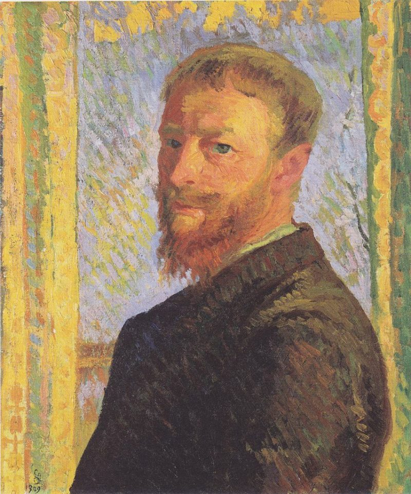 Self portrait   Giovanni Giacometti   oil painting