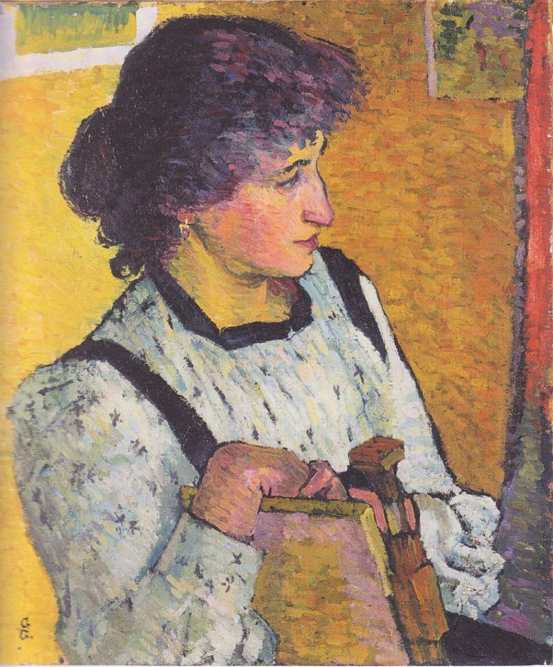 Annetta   Giovanni Giacometti   oil painting