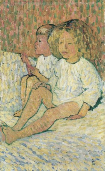 Kids In Bed | Giovanni Giacometti | oil painting