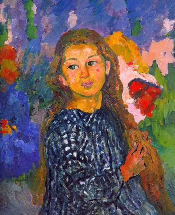 Portrait of Ottilia Giacometti   Giovanni Giacometti   oil painting