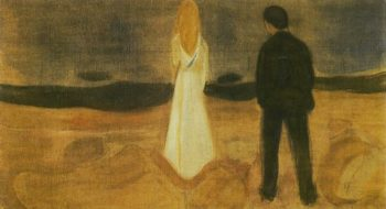 The solitary ones | Edvard Munch | oil painting