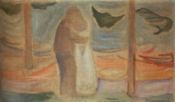 Couple on the Shore | Edvard Munch | oil painting