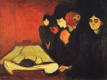 By the Deathbed | Edvard Munch | oil painting